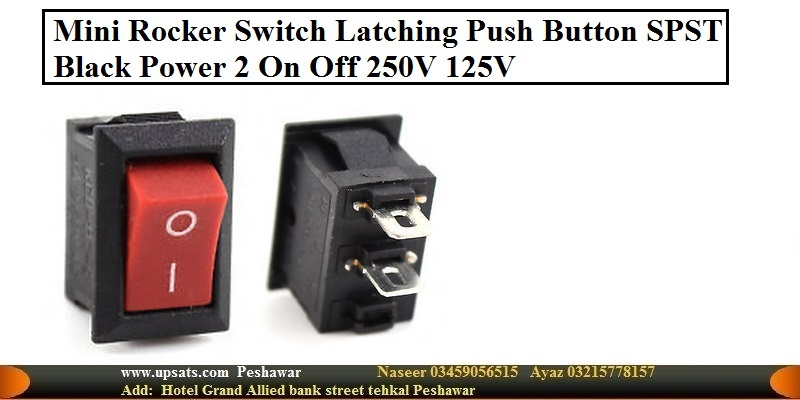 KCD1-101 Power Switch Black Red Latching Push Butt