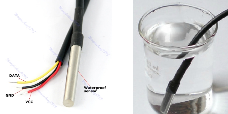 DS18B20 Waterproof Digital Temperature Sensor 1M