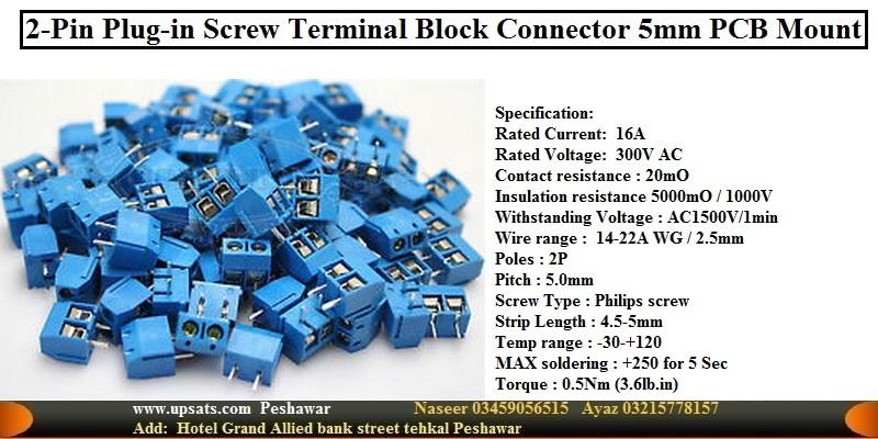 2pins 5.08mm Blue Terminal block connector