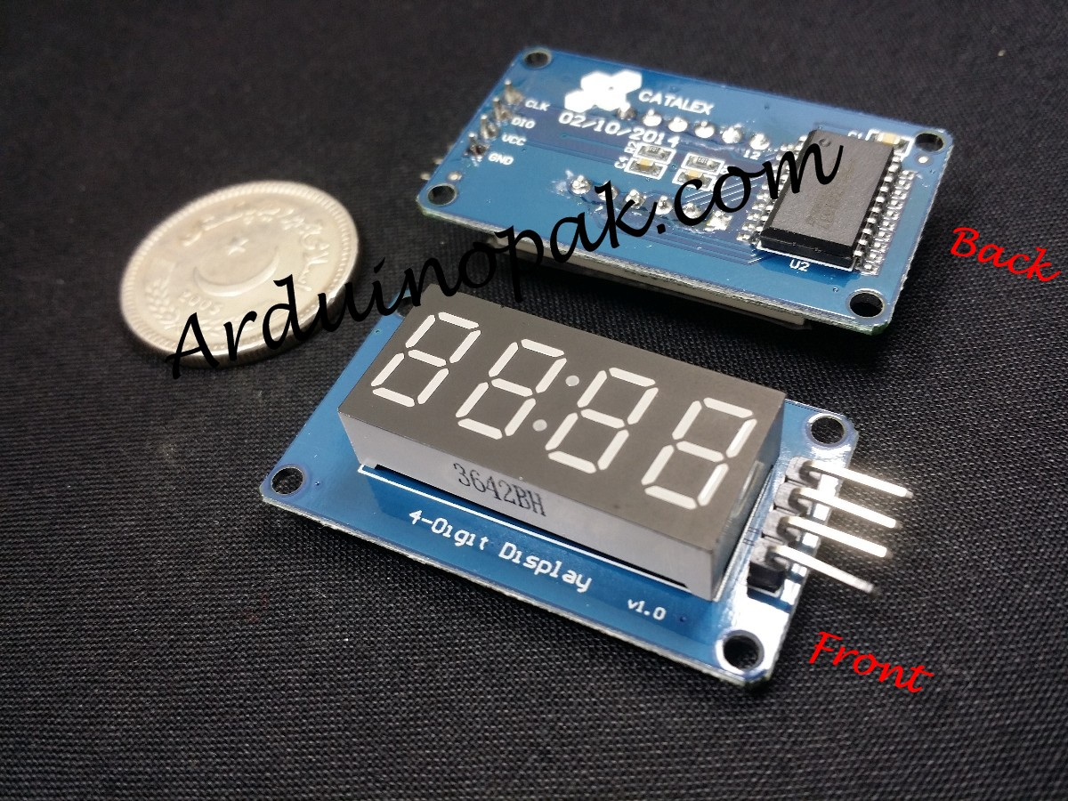 TM1637 4 bits Digital Tube LED Display Module with