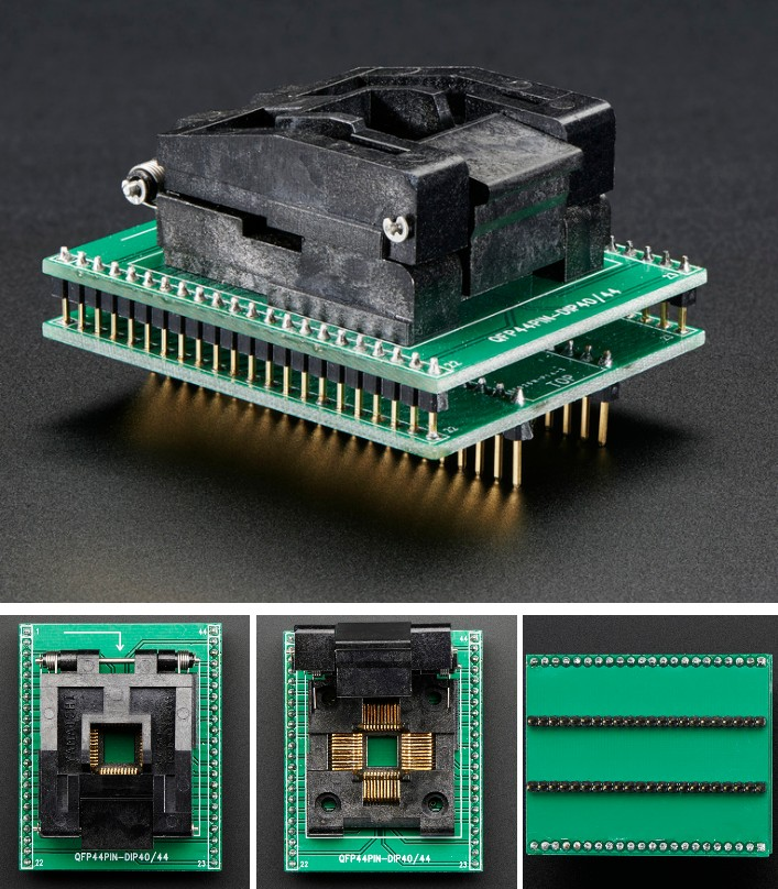 SMT Test Socket TQFP-44 Breakout adapter module