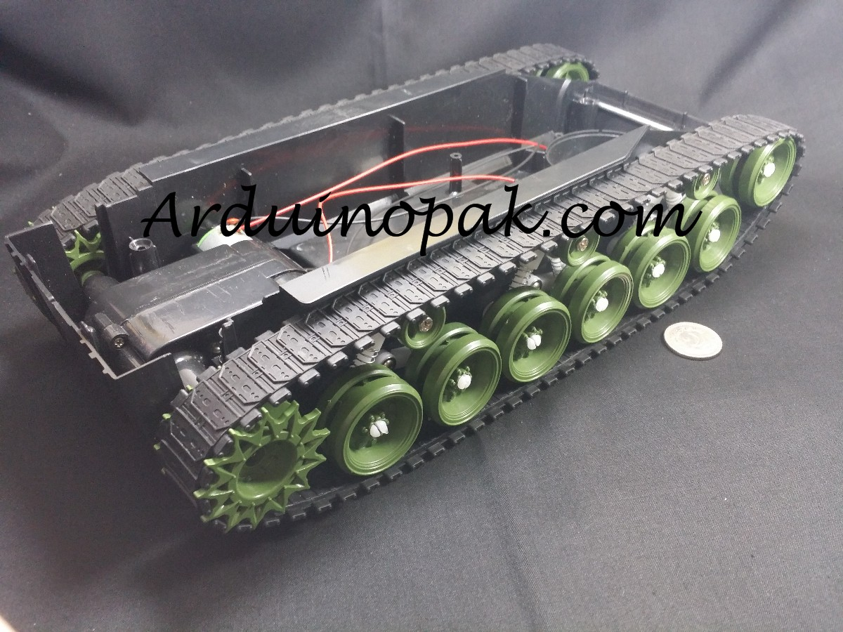 Tracked tank chassis Robot damping suspension with
