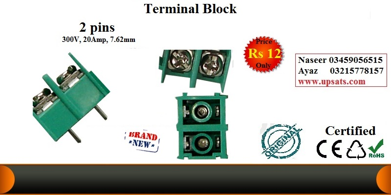 TERMINAL BLOCK 30A, 7.62mm pitch, 2PIN