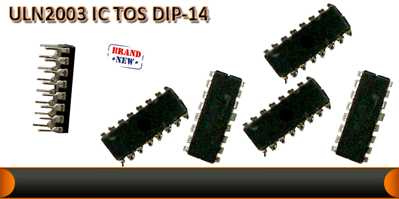 ULN2003 driver TOS  DIP-14 pin IC