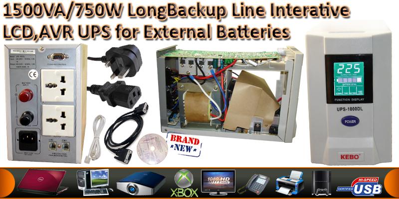 1500VA/750Watts Line Interactive UPS