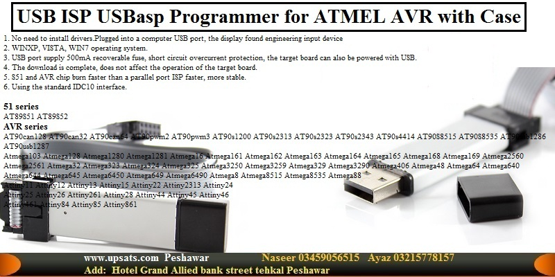 USBasp USB ISP Programmer for ATMEL AVR with Case