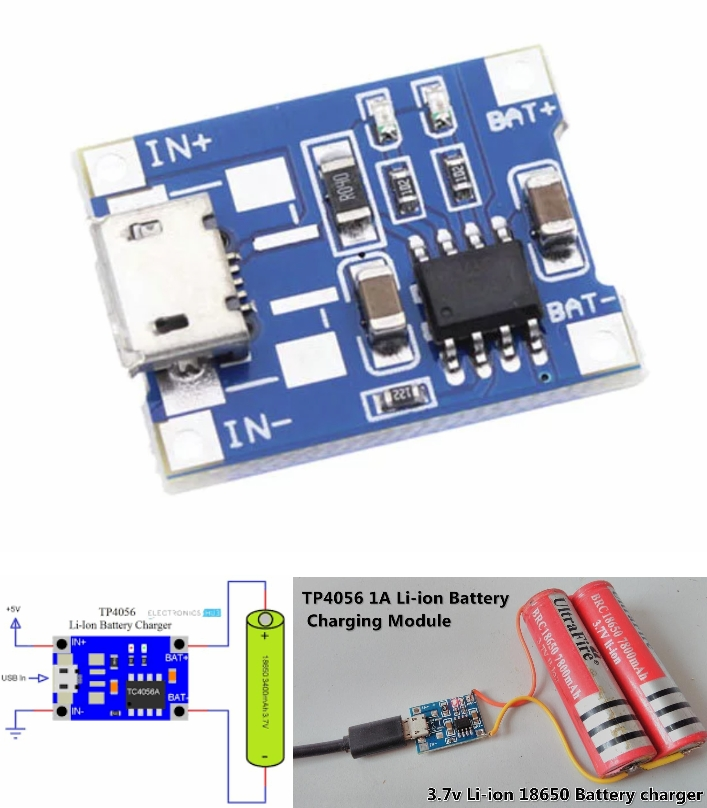 5V TP4056 Lithium Battery Charging Board Mini USB
