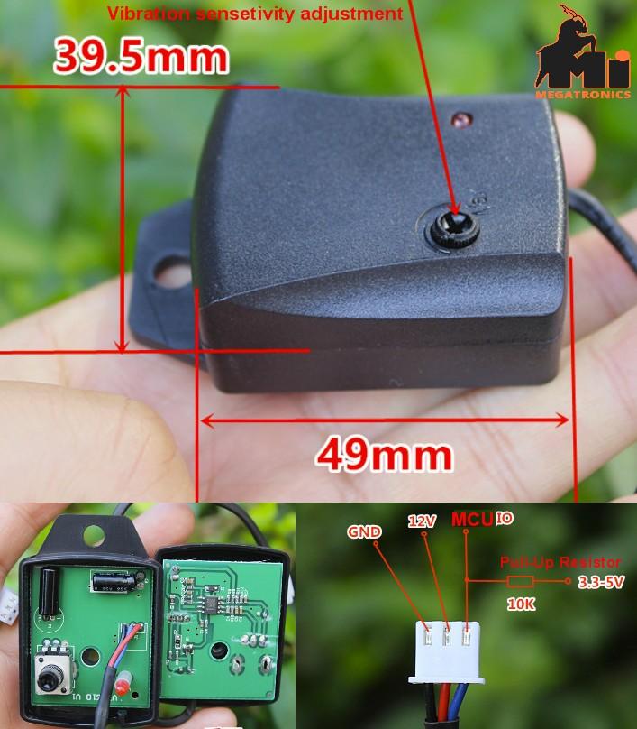 Automobile car Vibrator vibration switch Sensor High Sensitive Motorcycle Anti-t