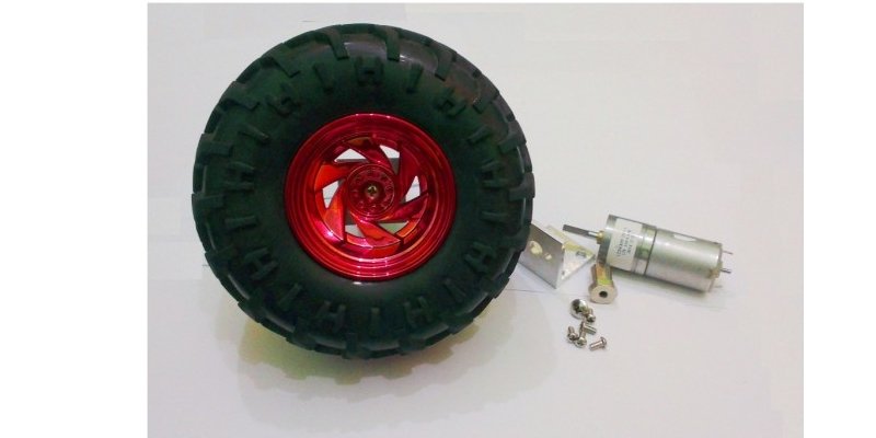 Vibrationless Robot Wheel with high torque Gear bo