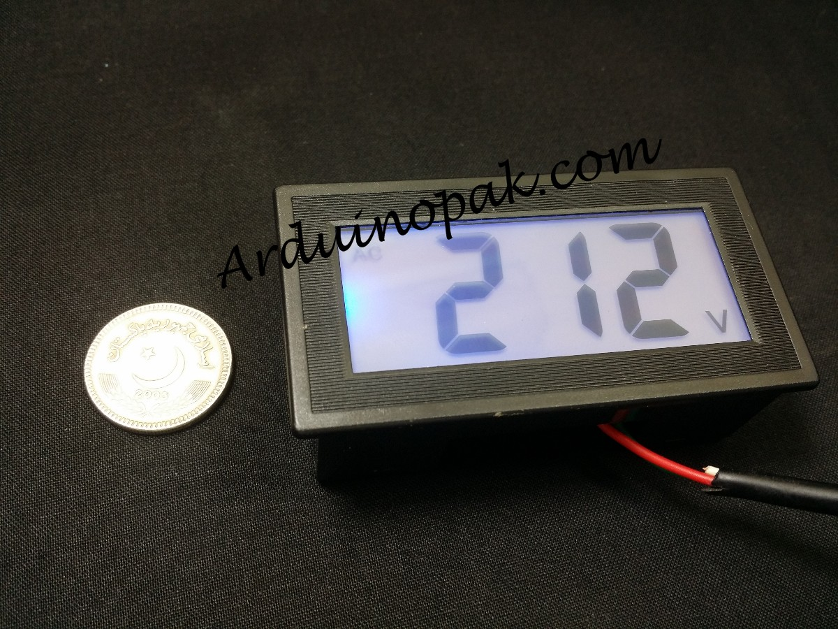 220 AC LCD digital display voltmeter 80V to 500V A