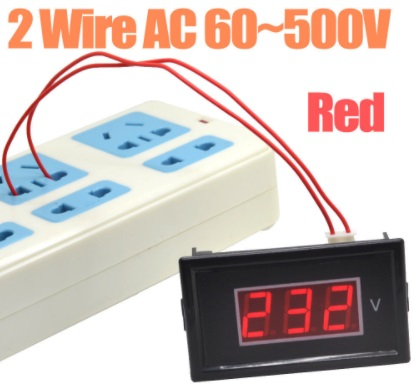 "RED 2 wire 0.56"" DVM Digital Voltmeter LED Panel V"