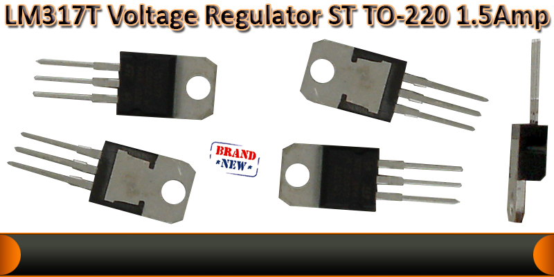1.5A Voltage regulator LM317T   ST   TO-220