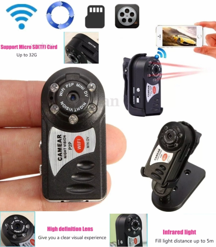 Protable Mini Q7 WiFi IP Camera DV Wireless Webcam