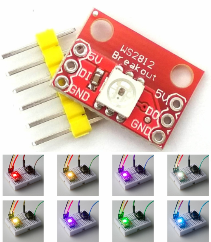 WS2812 RGB LED Breakout board module