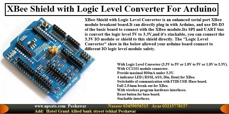 XBee Shield with Logic Level Converter For Arduino