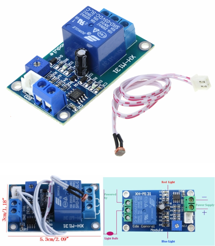 12V XH-M131 Light Control Switch Relay Photoresist