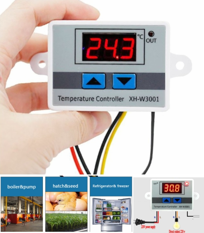 W3001 Digital Temperature Controller 220V AC 10A