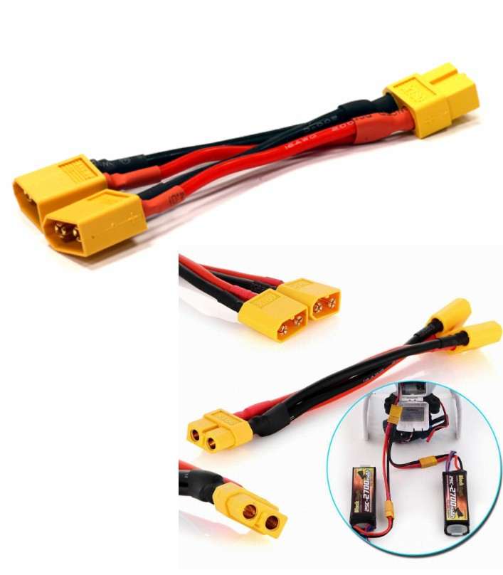 Y XT60 Parallel Battery Connector Cable Extension