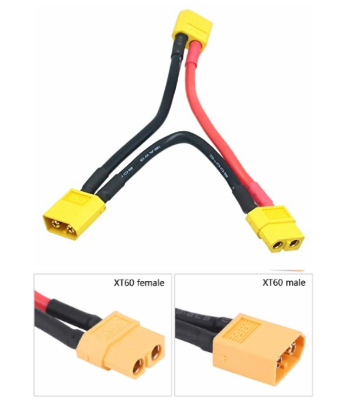 XT60 Series Battery Connector Cable deltaExtension