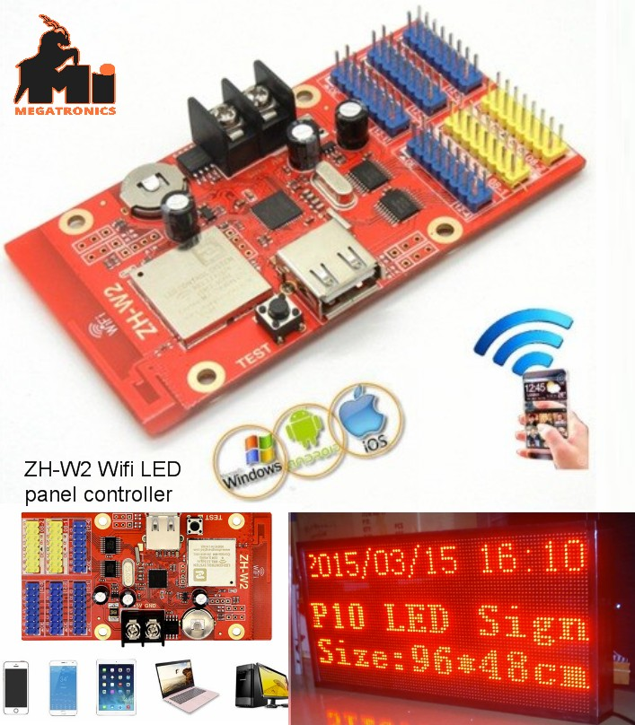AVIC ZH-W2 wifi LED control card 1024*64 wifi+USB