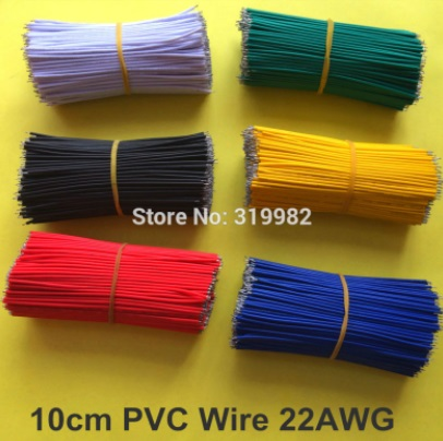 insulated jumper wire yellow 22AWG 10CM cable