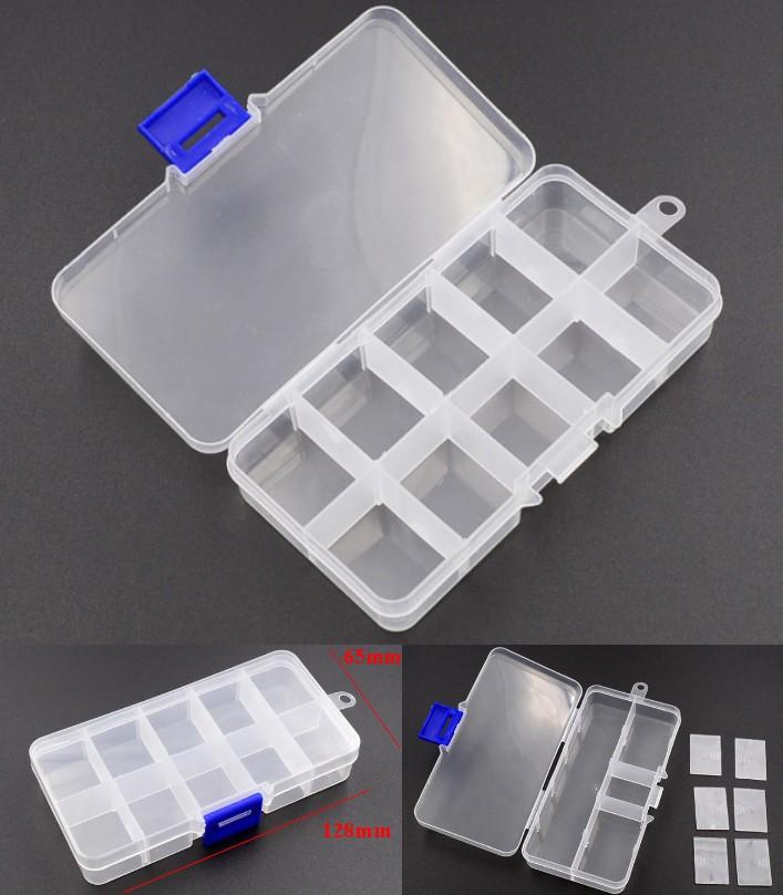 10 Grids Plastic Storage Box for Small Component J