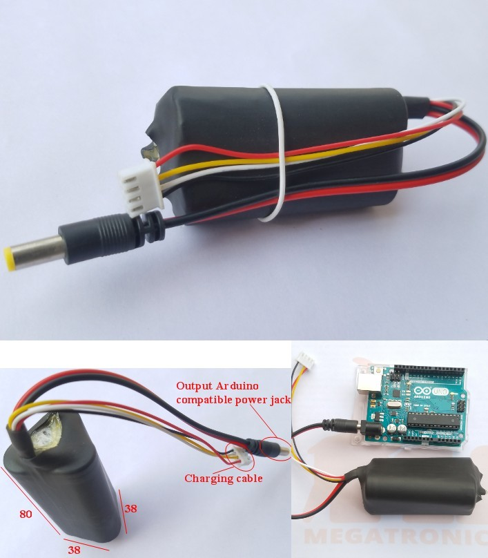 12V 2000mAh li ion rechargeable battery arduino DI