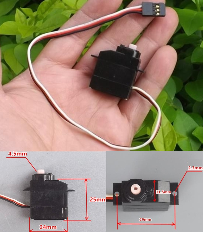 8g micro servo motor for RC glider fixed wing