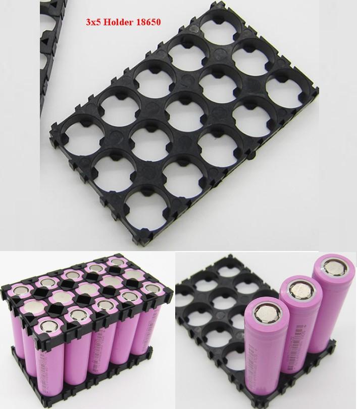 3.7V 3x5 (15) 18650 Battery Holder Plastic Bracket mount case