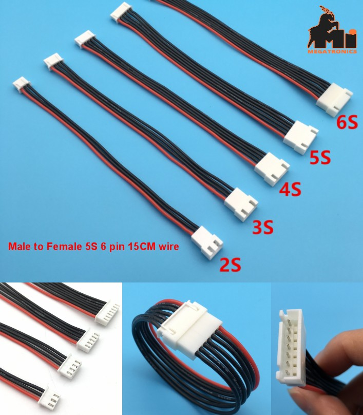 5S 6pin battery cable male to female double 15CM e