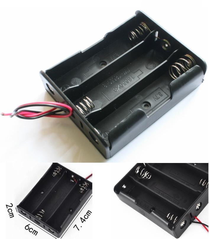 18650 Battery Holder Plastic Storage Box Case 3.7v