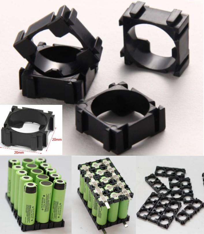 Plastic 18650 Battery Holder Bracket Cylindrical C