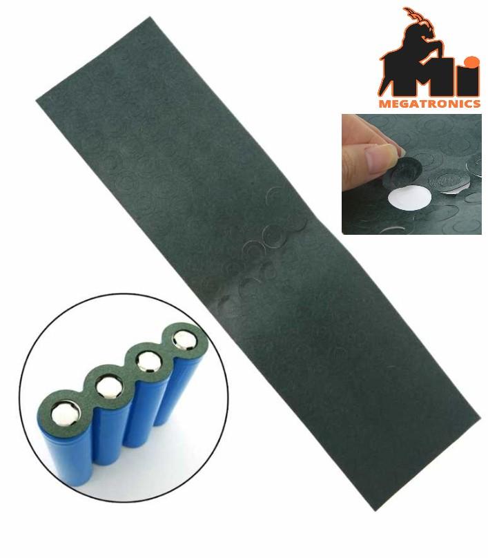 100pcs 18650 Li-ion Battery Insulation Gasket pads patch ring Adhesive Cardboard