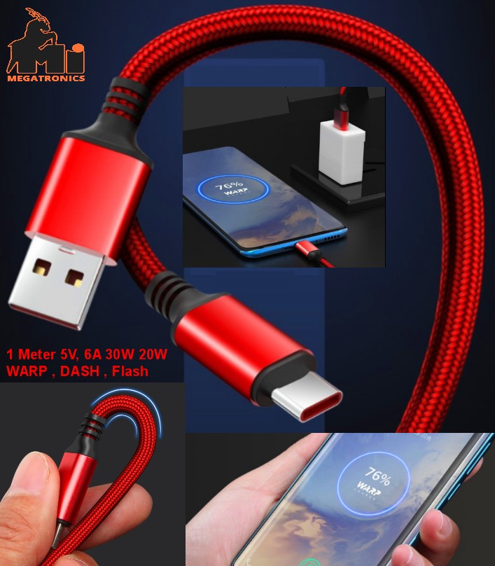 OnePlus type-c WARP flash 30W fast charge cable DA