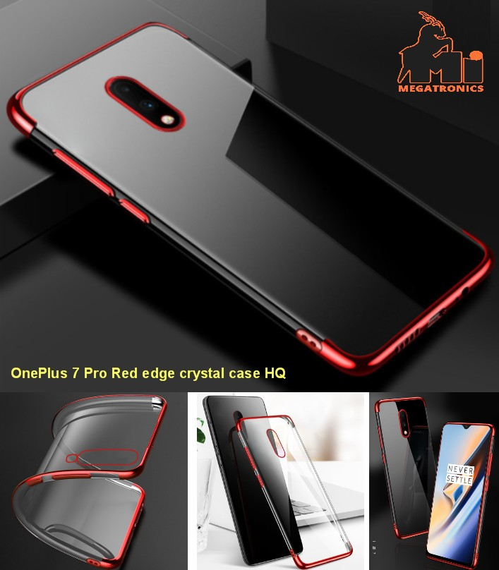 GKK Oneplus 7 pro Case Soft Silicone Red Flexible