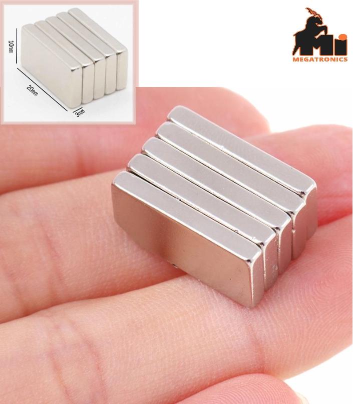 20x10x3 super strong Neodymium Magnet N35 NdFeB Pe