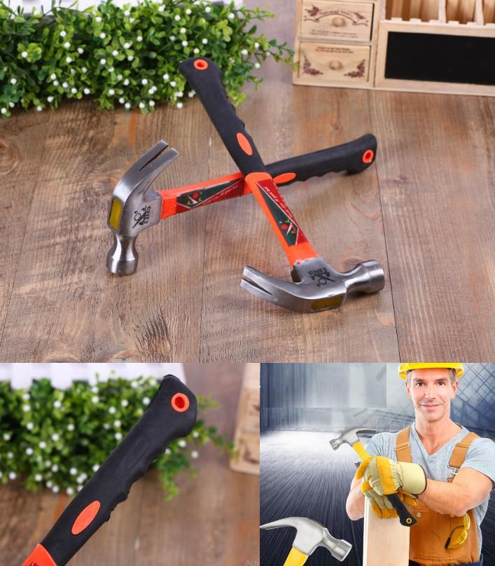 Claw Hammer Plastic Handle Nail Puller 250g DIY Sa