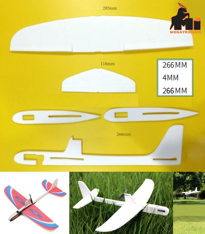 Capacitor Hand Throwing Free-flying Glider Airplan