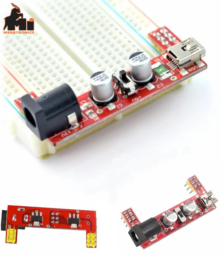 breadboard Power supply MB102 - 3.3V/5V dual channel