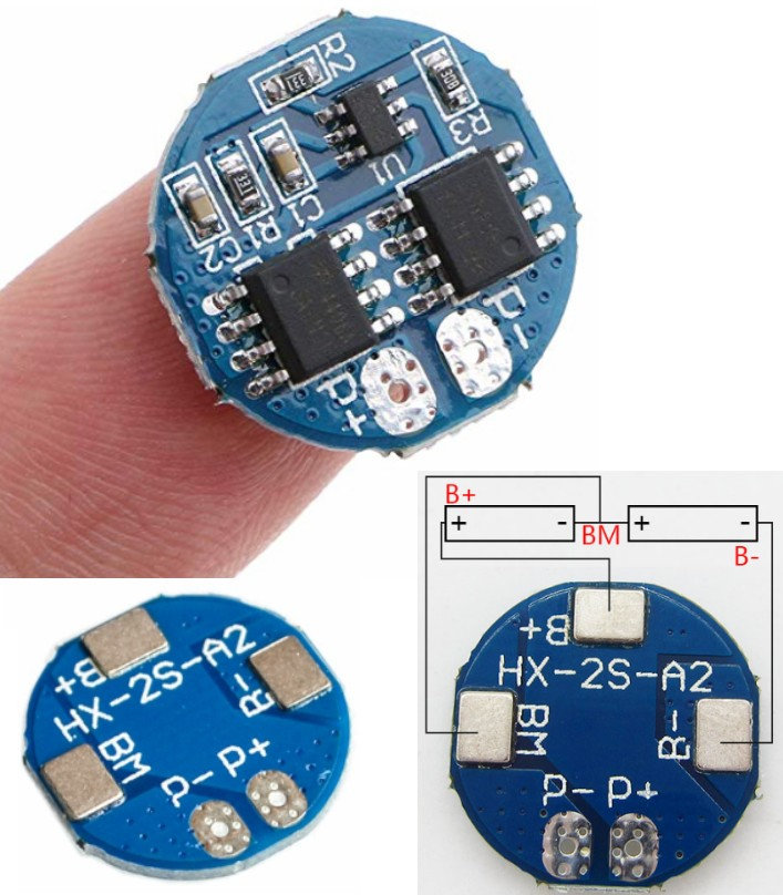 2S BMS 7.4V 5A 18650 battery Charging Protection