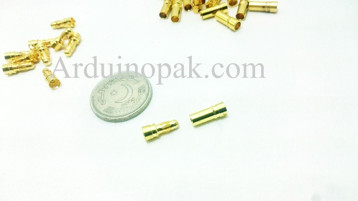 3.5mm gold bullet ESC battery connector plug