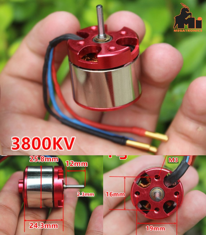 Aircraft 3800kv brushless motor helicopter car mod