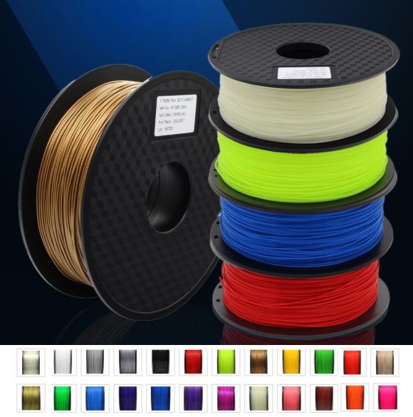 Black 1KG 3D Printer filament PLA 1.75mm