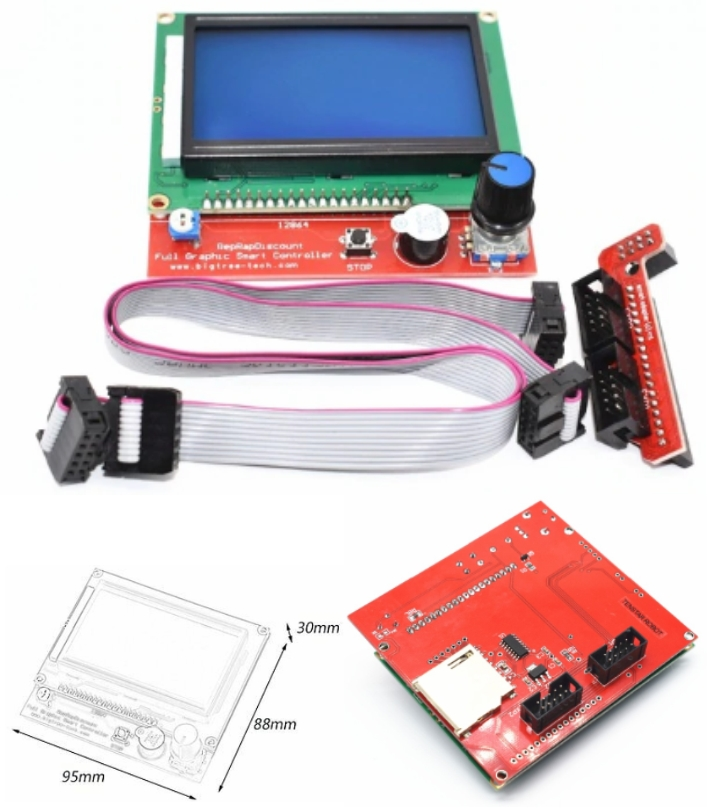 RAMPS 1.4 Reprap LCD12864 3D printer Graphic Smart