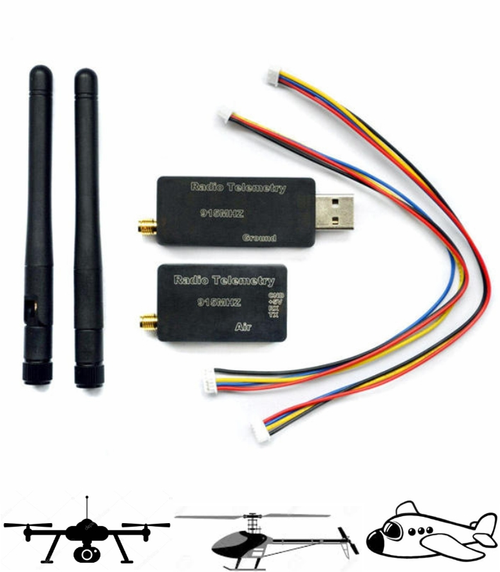 3DR Radio Telemetry Kit With Case 915MHZ For MWC A