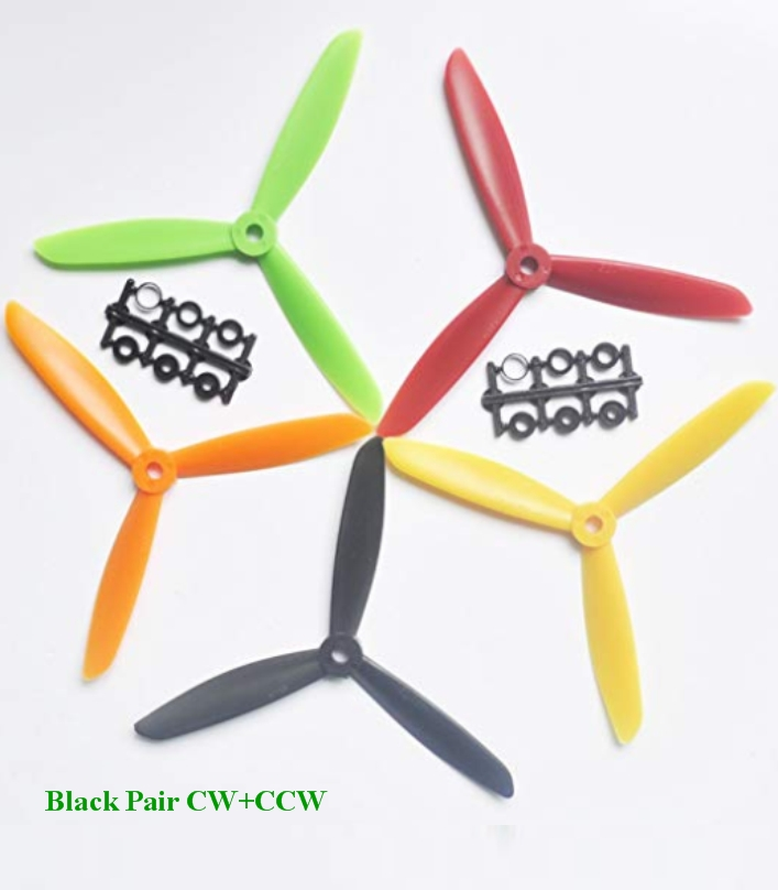 6045 3 Blade Black ABS CW+CCW propeller ZMR Props