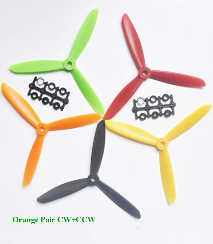 6045 3 Blade Orange ABS CW+CCW propeller  ZMR Prop