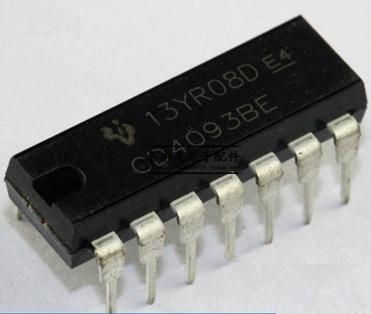 CD4093BE Quad 2 input NAND schmitt trigger 4093