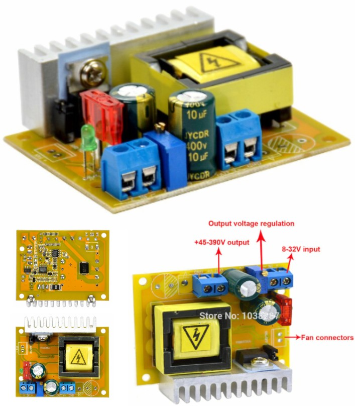 DC-DC 45-390V Voltage Booster Step-up Converter