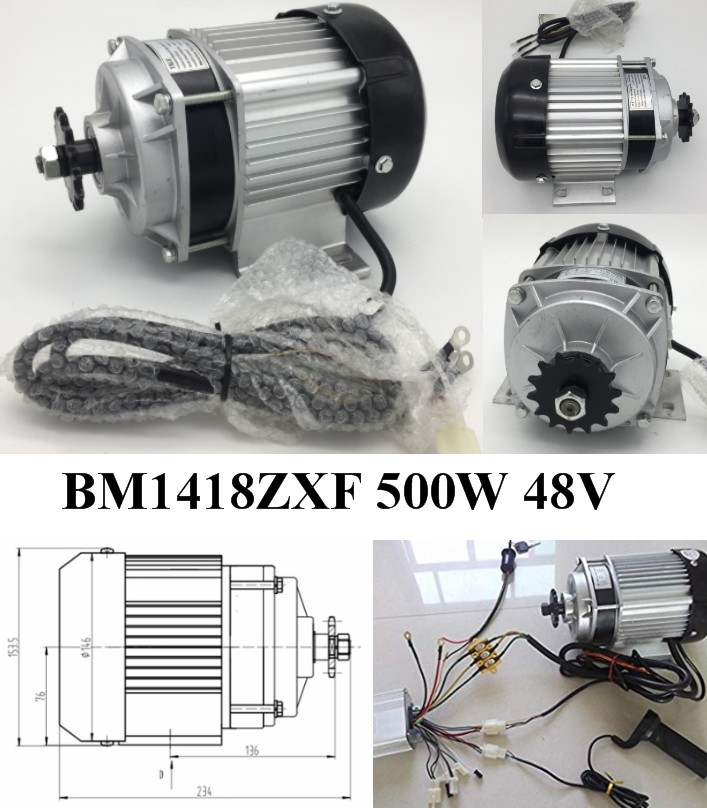 BM1418ZXF 500W 48V brushless Motor Bike Tricycle E